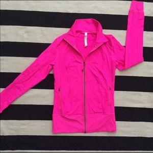 Lulu lemon hot pink zip up jacket